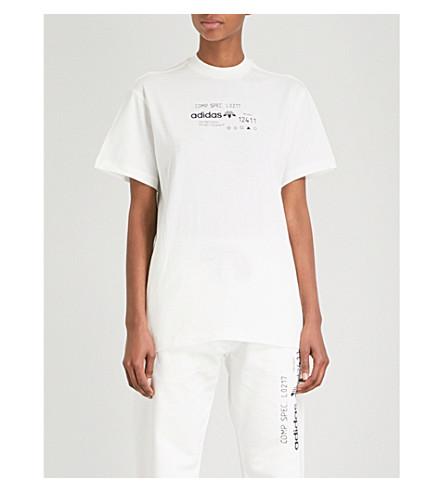 ADIDAS X ALEXANDER WANG Graphic-print cotton-jersey T-shirt (Core+white