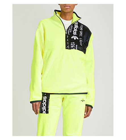 ADIDAS X ALEXANDER WANG Polar fleece jacket (Solar+yellow/+black