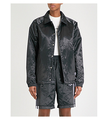 ADIDAS X ALEXANDER WANG Coach satin jacket (Black/+black