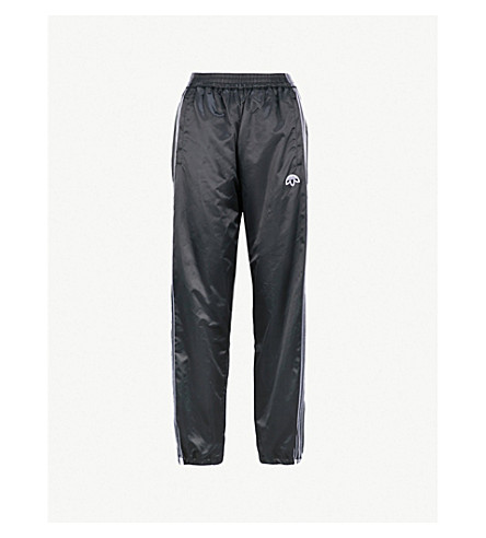 ADIDAS X ALEXANDER WANG Adibreak satin jogging bottoms (Black/+black
