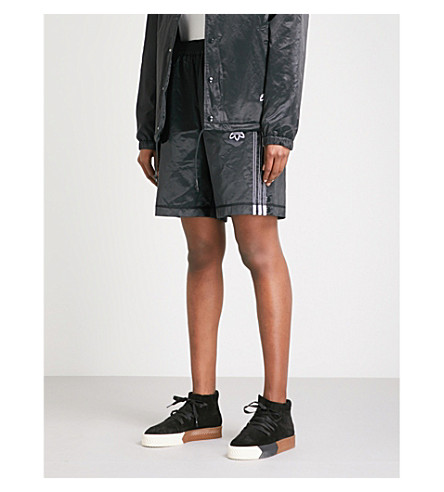 ADIDAS X ALEXANDER WANG Adibreak satin shorts (Black/+black