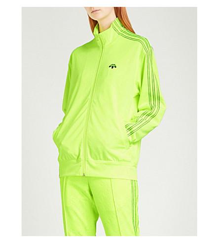 ADIDAS X ALEXANDER WANG 徽标印花提花平纹针织面料履带夹克 (太阳能 + 黄色
