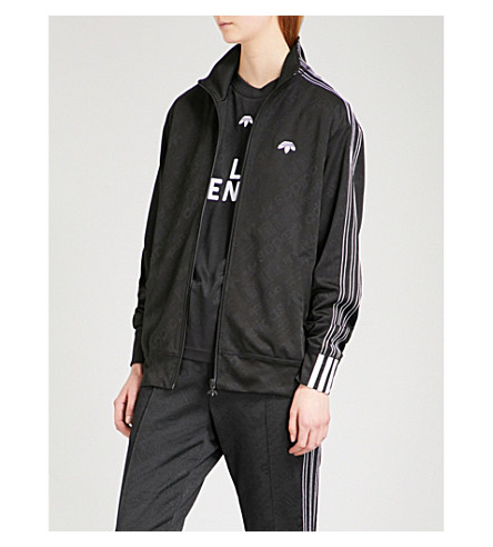 ADIDAS X ALEXANDER WANG Logo-print jacquard jersey track jacket (Black