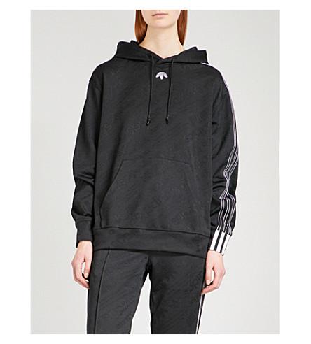 ADIDAS X ALEXANDER WANG Oversized jacquard hoody (Black