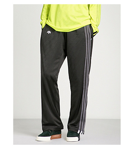 ADIDAS X ALEXANDER WANG Logo-print jacquard jersey jogging bottoms (Black