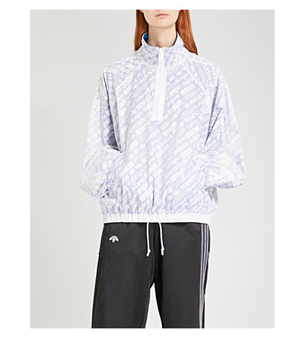 ADIDAS X ALEXANDER WANG Logo-print sports mesh shell coat (Multicoloured