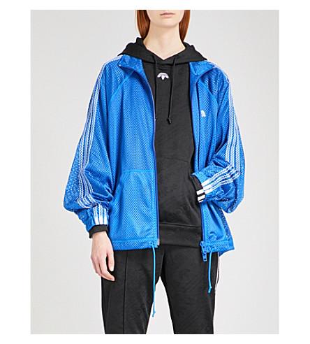 ADIDAS X ALEXANDER WANG Logo-embroidered sports mesh jacket (Bluebird