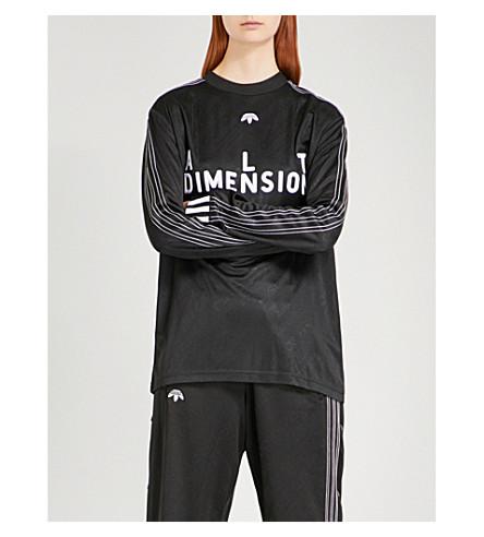 ADIDAS X ALEXANDER WANG Soccer jersey top (Black/+white