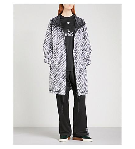 ADIDAS X ALEXANDER WANG Logo-print shell parka coat (White/+black