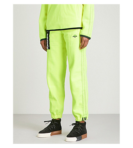 ADIDAS X ALEXANDER WANG Polar fleece jogging bottoms (Solar+yellow/+black