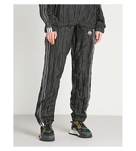 ADIDAS logo Negro con WANG y bordado ALEXANDER Pantalón X con arrugada capucha 4xv4AP