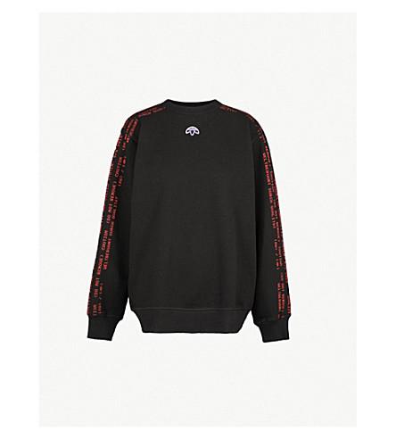 b2a0582c4c6 ADIDAS X ALEXANDER WANG - Logo-embroidered cotton-piqué sweatshirt ...