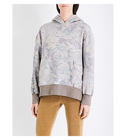 YEEZY Season 4 leaf-print cotton-jersey hoody (Cpn46