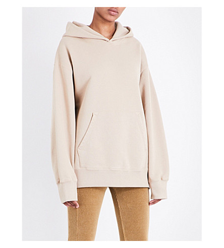 YEEZY Boxy-fit cotton hoody (Dune