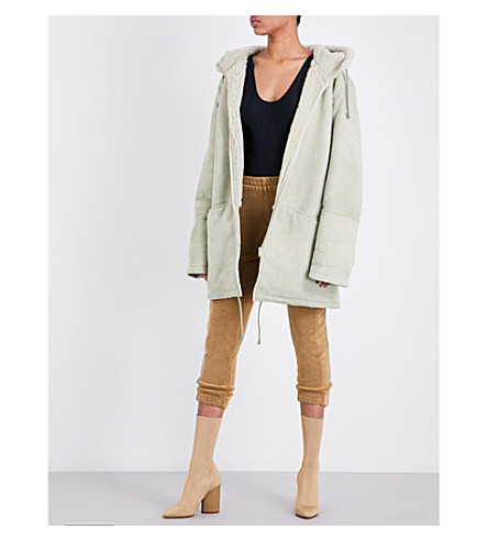 YEEZY Hooded suede coat (Dune