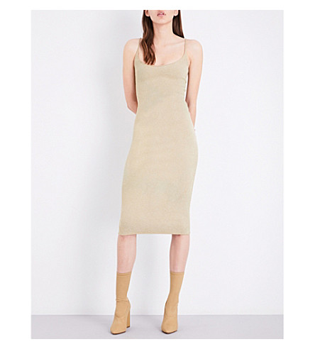 YEEZY Season 4 knitted midi dress (Oatmeal