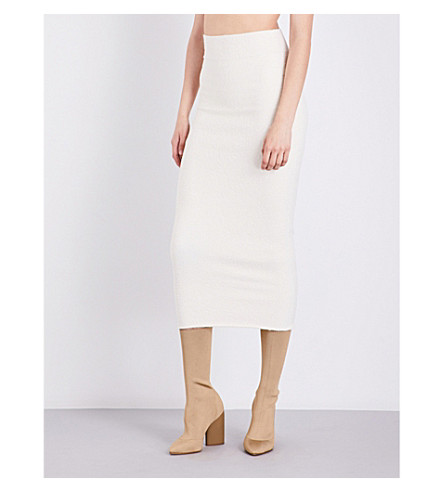 YEEZY Season 4 knitted midi skirt (Cream