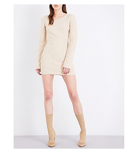 YEEZY Knitted mini dress (Off+white+2
