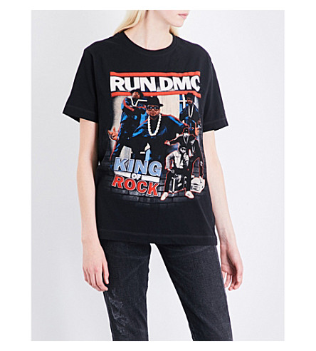 TRIBUTE COLLECTION RUN-DMC cotton-jersey T-shirt (Black