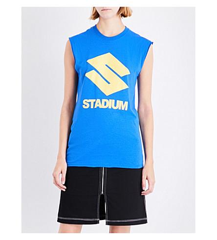 JUSTIN BIEBER Stadium Tour cotton-jersey top (Blue+yellow