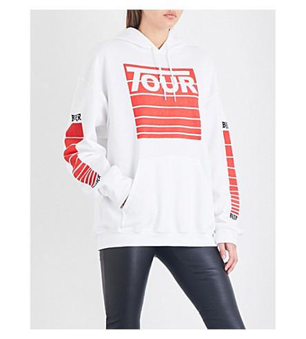 JUSTIN BIEBER Stadium Tour jersey hoody (White+red