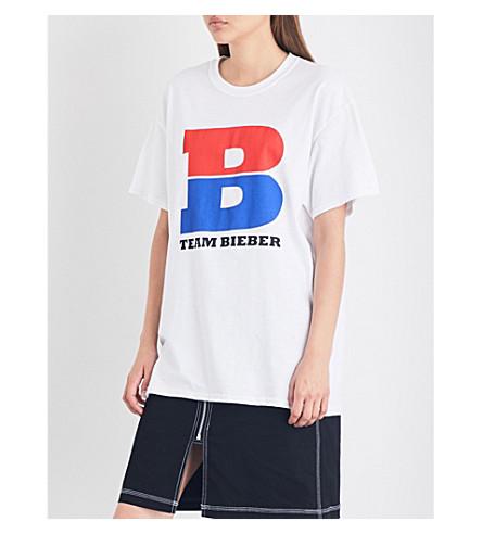 JUSTIN BIEBER Team Bieber cotton-jersey T-shirt (White
