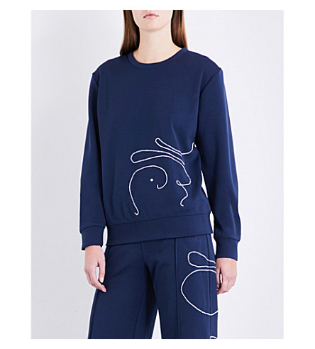 AREA Bellrose sports-jersey sweatshirt (Navy