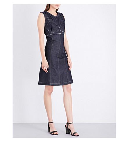AREA Bailey sleeveless denim dress (Raw