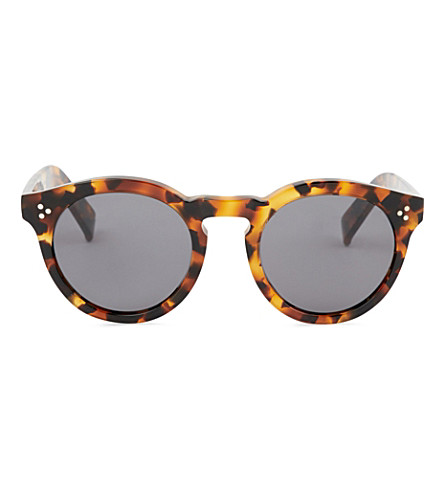 ILLESTEVA Leonard II round-frame sunglasses (Light+tortoise
