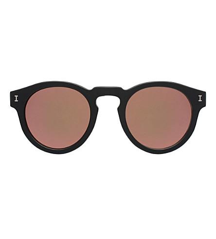 ILLESTEVA Leonard round-frame sunglasses (Matte black with ros