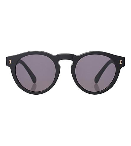 ILLESTEVA Leonard round-frame sunglasses (Matte+black