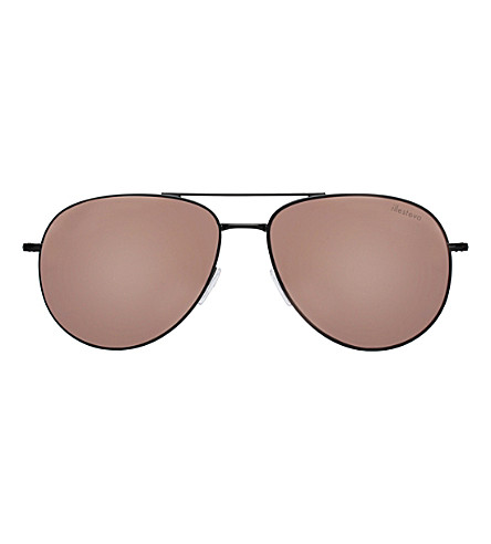 ILLESTEVA Linate aviator sunglasses (Black+with+rose