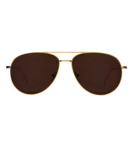ILLESTEVA Linate aviator sunglasses (Gold+with+brown+lens