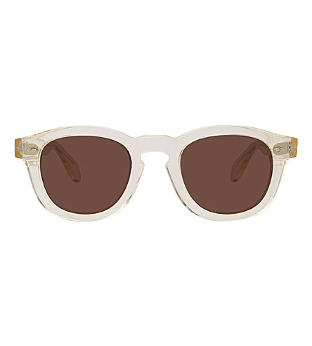 ILLESTEVA Murdoch round-frame sunglasses (Clear
