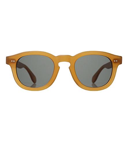 ILLESTEVA Murdoch round-frame sunglasses (Matte+blond+with+oli