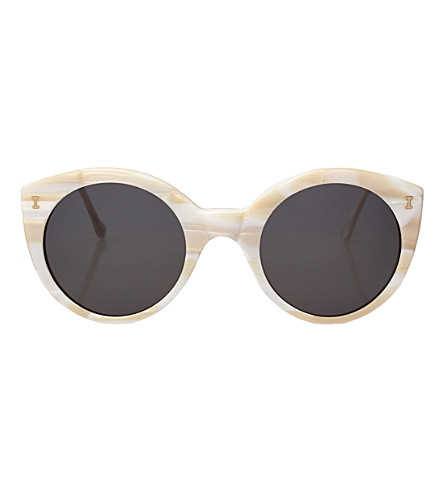 ILLESTEVA Palm Beach cat-eye sunglasses (Cream