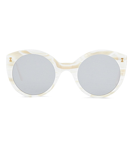 ILLESTEVA Palm beach sunglasses (Cream+marble