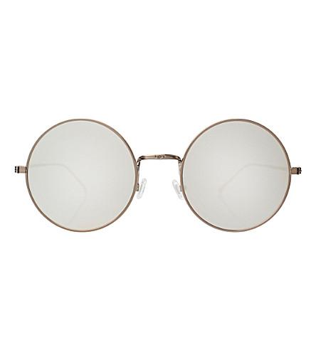 ILLESTEVA Porto Cervo round-frame mirrored sunglasses (Bronze with silver m