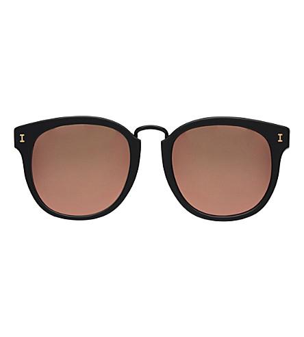 ILLESTEVA Sardinia round-frame sunglasses (Matte+black+with+ros