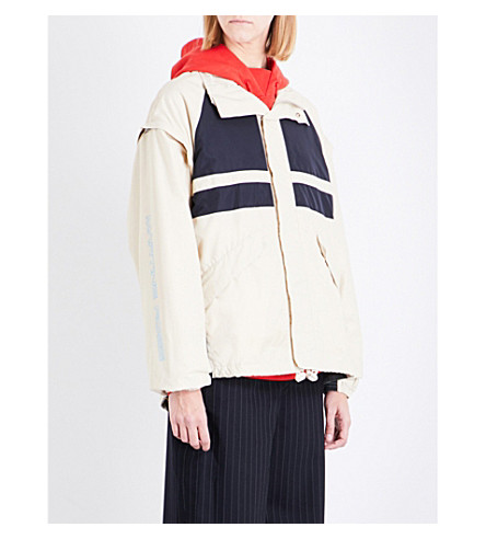 MARTINE ROSE Panelled shell jacket (Beige