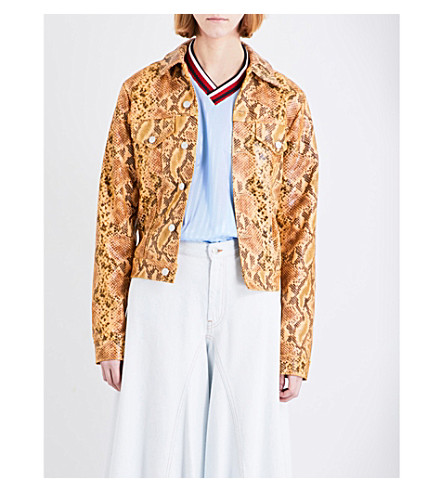 MARTINE ROSE Snakeprint leather jacket (Snakeskin