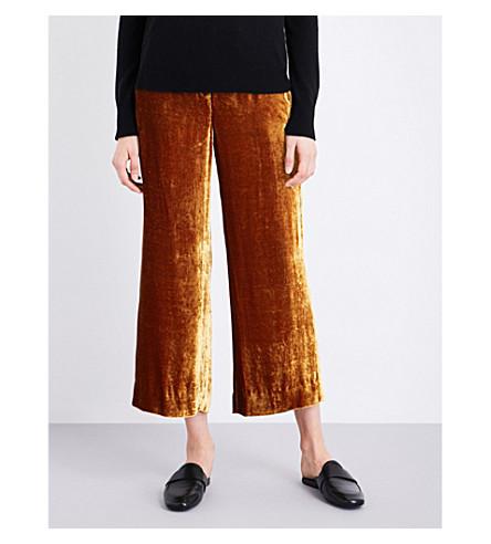 A.L.C Robbie wide-leg velvet trousers (Gold