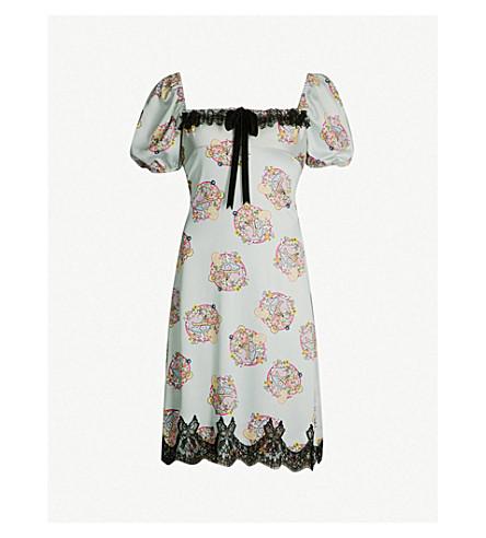 MIMI WADE Mimi Wade x Polly Pocket Snail stretch-silk dress (Pistachio