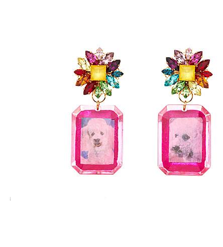 MIMI WADE Poodle crystal earrings (Rainbow swarovski