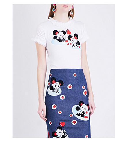MIMI WADE Panda-print cotton-jersey T-shirt (White