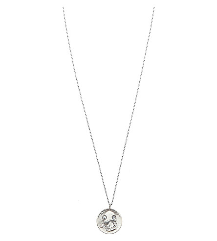 HUSAM EL ODEH Smiling Coin sterling silver and diamond necklace (Slvr+blu