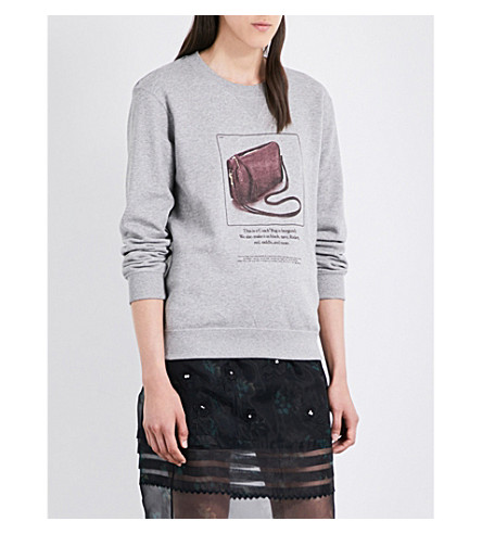COACH Coach x Rodarte Archive cotton-jersey sweatshirt (Heather+grey