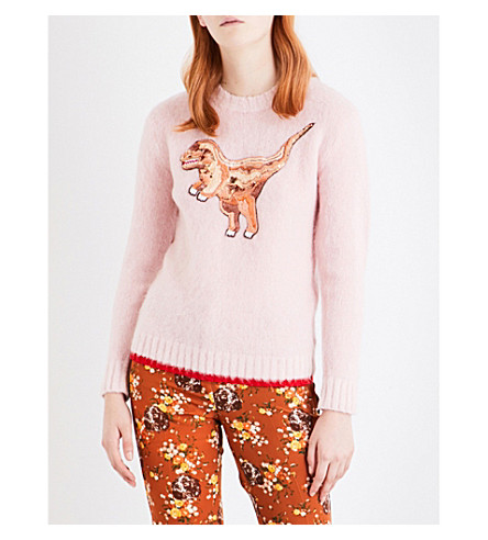 COACH Rexy embellished wool jumper (Pink