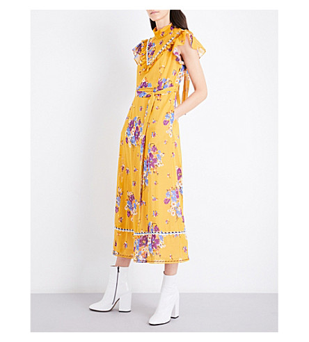 COACH Daysy floral cotton dress (Mustard