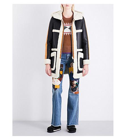 COACH Reversible hooded shearling parka coat (Cream